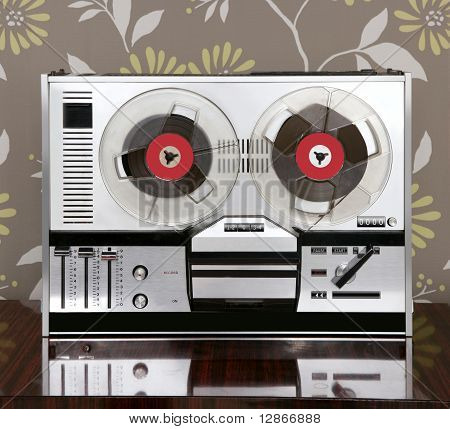 Classic Retro Reel To Reel Open 60S Vintage Music
