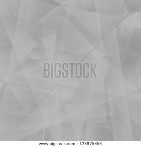Abstract Grey Polygonal Background. Grey Geometric Pattern