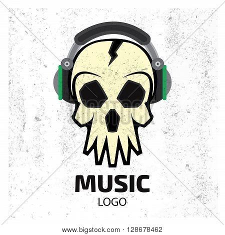 Music Skull Logo