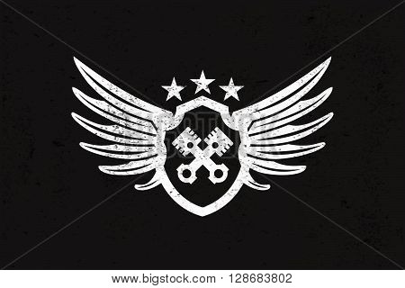 Automotive Wing  Logo. Vector illustration. Stock vector.