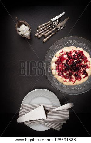 Tiramisu Berries Cake Serving