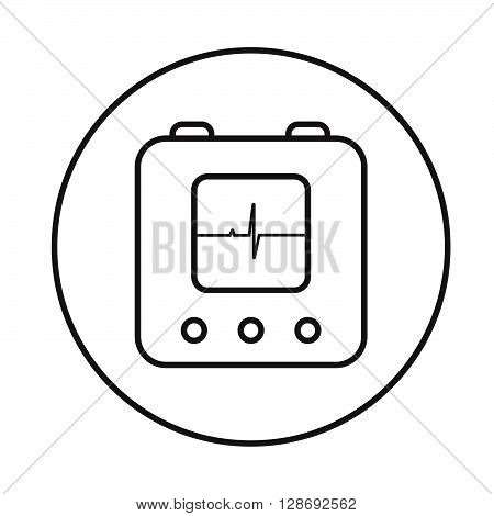 Defibrillator Icon Linear