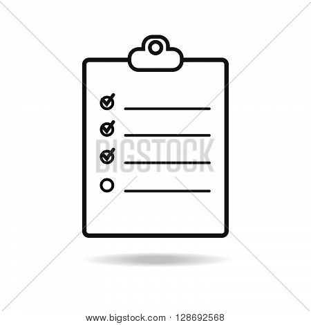 Check list icon line. Stock vector. Vector illustration.