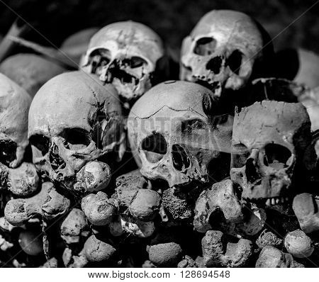 Ossuary in Naples in which are buried victims of plague and cholera