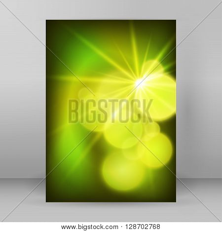 Cover Page A4 Brochure Layout Green Background Blur Circle