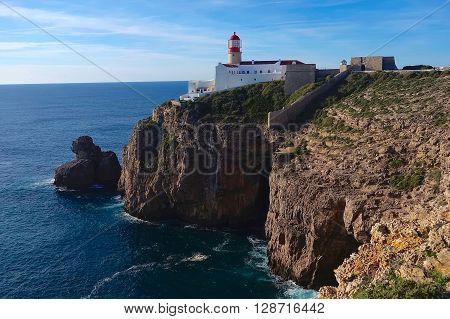Cabo de São Vicente, Portugal, January 16, 2016: Cabo de São Vicente is the most southwestern point of Europe.