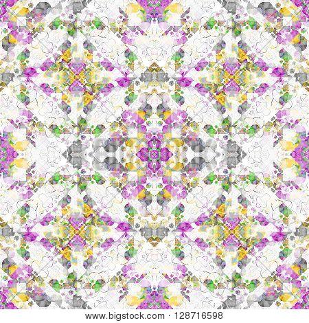 Geometric Mosaic Boho Chic Pattern