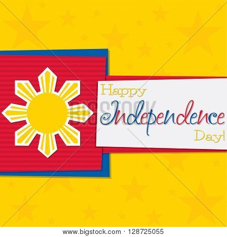 Funky Philippine Independence Day Card In Vector Format.