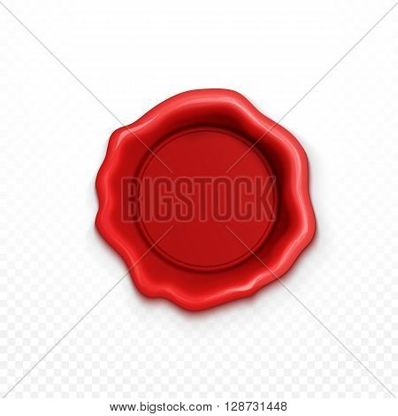 Wax seal red. Red wax seal. Wax Seal. Shiny Red Wax Seals Isolated realistic . Shiny Red  Sealing wax isolated realistic.