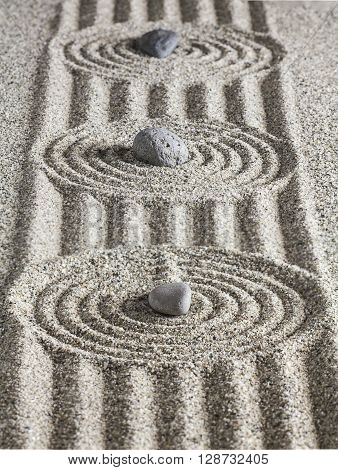 Stones On The Sand.