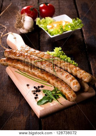 Grilled Sausages On Board
