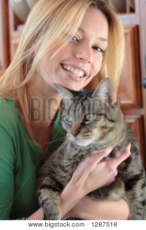 Model With A Cat