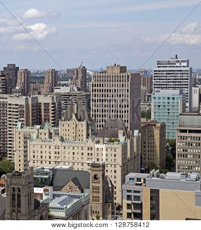 Cityscape of the downtown Montreal Quebec, Canada