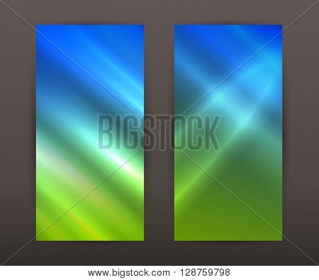 Summer Blurry Vertical Banner Set Back Front Presentation