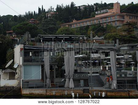 ISTANBUL/TURKEY-OCTOBER 14, 2014: Reina Bar-Restaurant-Club at the Bosphorus, on October 14, 2014 in Istanbul Turkey.