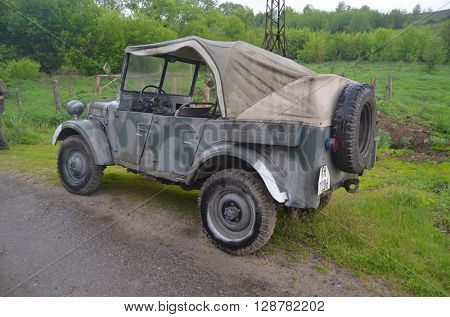 German historical military transport.Ayt May 7,2016 in Kiev, Ukraine