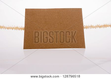 piece of paper placed on a white background