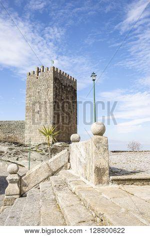 medieval castle in Linhares da Beira Historical Village, Guarda, Portugal