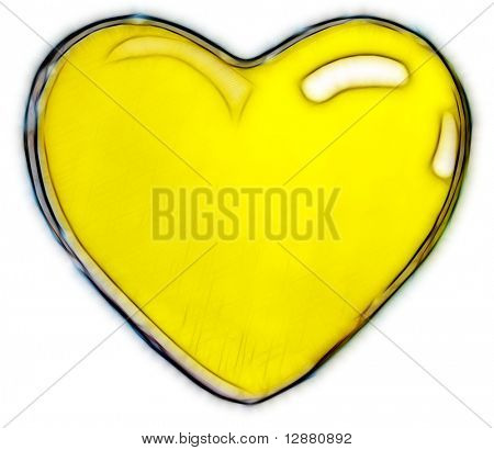 Shiny heart poster