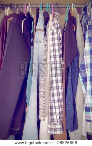 Wardrobe in the house of an ordinary person