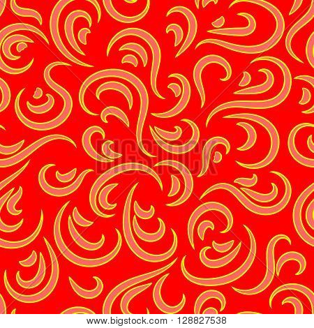 Abstract seamless pattern from curls ornament. Fashionable modern style. Effect velvet. Graphic style for wallpaper wrapping fabric background design apparel other print production. Stock Vector