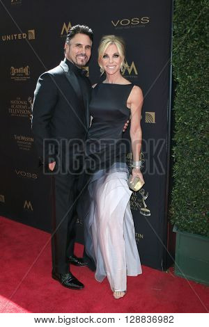 LOS ANGELES - May 1: Don Diamont, Cindy Ambuehl at The 43rd Daytime Emmy Awards Gala at the Westin Bonaventure Hotel on May 1, 2016 in Los Angeles, California