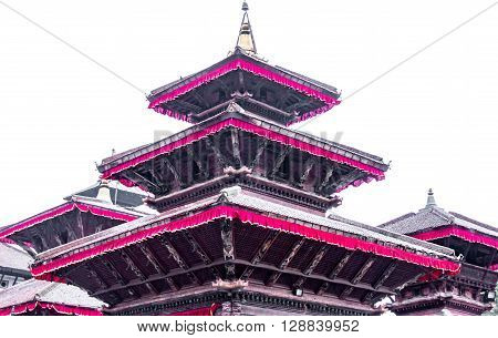 Pagoda style Temples at Kathmandu durbar Square in KathmanduNepal.