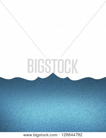 Blue Pattern Isolated On White Background. Template For Design. Copy Space For Ad Brochure Or Announ