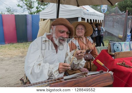 Musician Playing Medieval Instruments