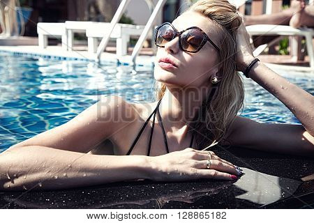 Sexy Woman In Water, Summer.