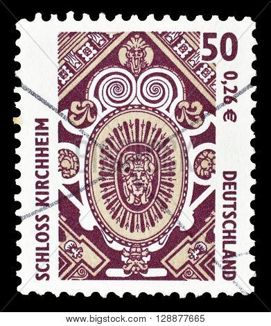 GERMANY - CIRCA 2001 : Cancelled postage stamp printed by Germany, that shows Kirchheim Palace