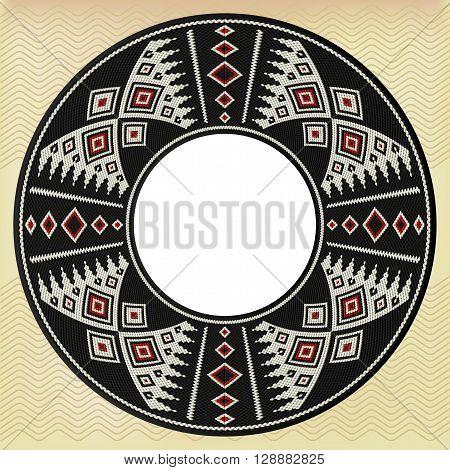 Traditional Arts And Crafts - Arabian Sadu Weaving Circle Frame