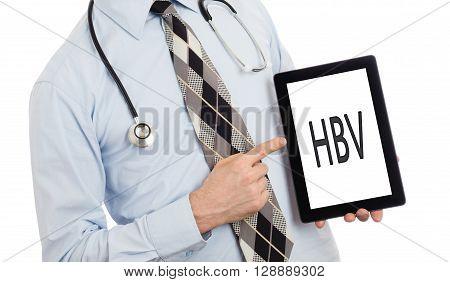 Doctor Holding Tablet - Hbv