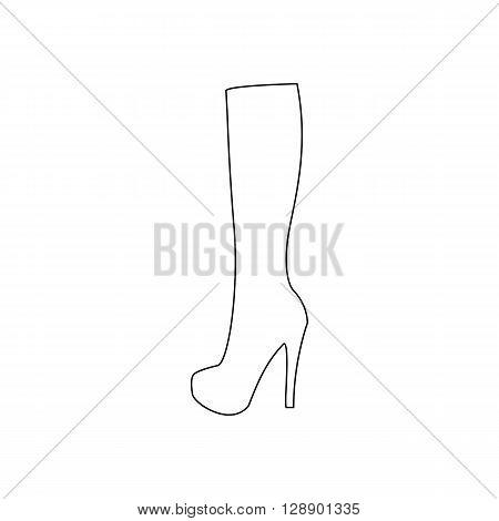Boots illustration. Shoes illustration. Boots icon. Vector illustration
