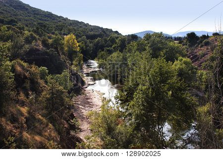 a river in the countryside of southern France