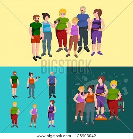Fat people vector set.fat people, fat people health, fat people body, fat people vector, f0at people isolated, fat people lifestyle, fat people woman, fat people exercise, fat people fitness, fat people sport