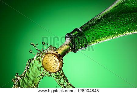 Beer Bottle Splashing