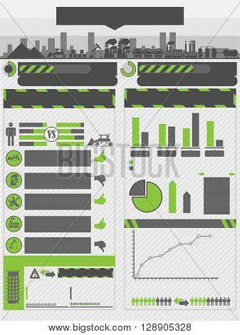 INFOGRAPHIC WORK GREEN FOR WEB AND OTHER