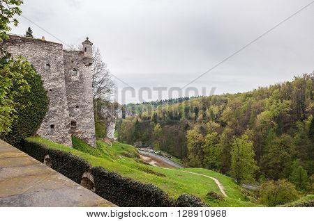 View of the valley of river Pradnik in Pieskowa Skala Poland