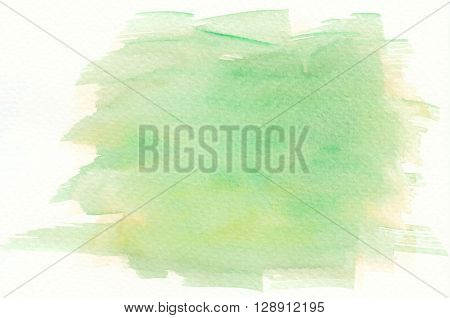 the yellow green abstract watercolor brushstroke background