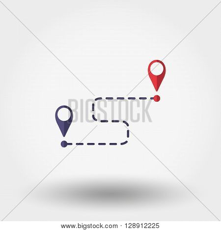 Map marks. Icon for web and mobile application. Vector illustration on a white background. Flat design style.