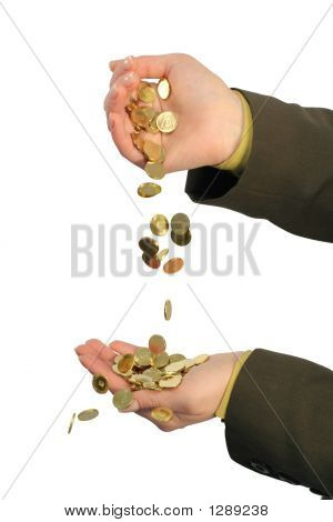 Stream Of Golden Coins