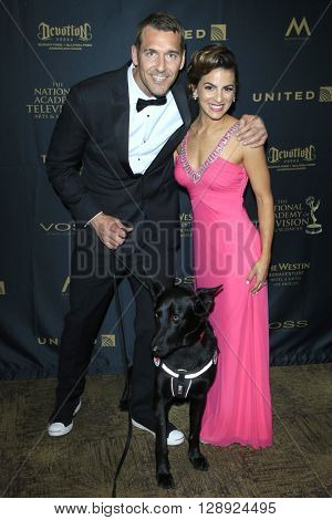 LOS ANGELES - May 1: Brandon McMillan, Renee Marino at The 43rd Daytime Emmy Awards Gala at the Westin Bonaventure Hotel on May 1, 2016 in Los Angeles, California