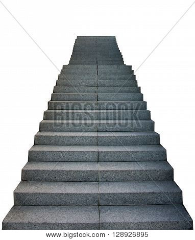 Stair Way Up On White Background, stair, high,