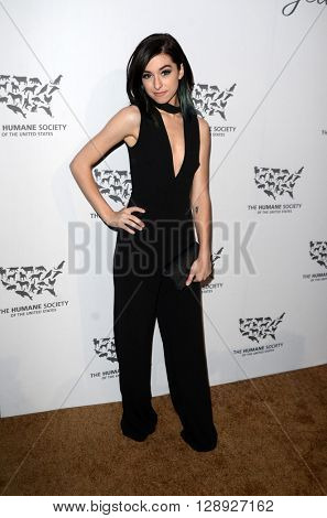 LOS ANGELES - MAY 7:  Christina Grimmie at the Humane Society Of The United States LA Gala at the Paramount Studios on May 7, 2016 in Los Angeles, CA