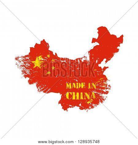 Made in China grunge stamp