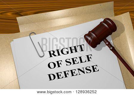 Right Of Self Defense Concept