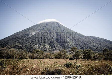 Concepcion Volcano View from Ometepe Island Nicaragua poster