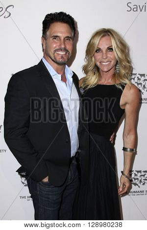 LOS ANGELES - MAY 7:  Don Diamont, Cindy Ambuehl at the Humane Society Of The United States LA Gala at the Paramount Studios on May 7, 2016 in Los Angeles, CA