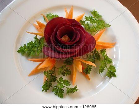Food Decoration. Beet Rose